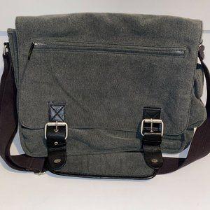Quiksilver Gray Messenger Shoulder Padded Bag